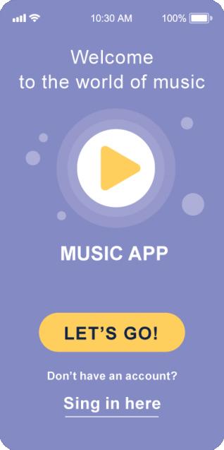 تصميم تطبيق اغاني وموسيقى